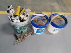 (6) SPECPOXY 3000FS Tubes with Gun & (2) Buckets of Chlorinating Concentrate. Located in Mt.