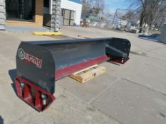 """(1) VIRNIG 120"""" Heavy Duty Steel Edge Snow Pusher Attachment, Serial #165988. Located in Mt."""