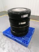 """(4) Gladiator QR55T 235/75R17.5 Tires with 8 Bolt Pattern 6"""" Center Rims. Located in Mt. Pleasant,"""