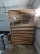 (44) Stackable Wood Pallets. Located in Marion, IA.