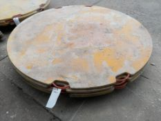 "(4) 6' x 1"" Round Outrigger Pads. Located in Mt. Pleasant, IA."