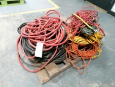 (1) Pallet of Extension Cords & Air Hoses. Located in Mt. Pleasant, IA.