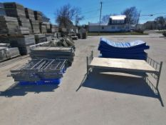(8) Metal Single Bed with Extension Poles and Derby Industries Mattress. Located in Mt. Pleasant,
