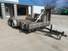 (1) 1993 Utility 14' X 8' Homemade Trailer, Vin #TD1233171. Located in Mt. Pleasant, IA.