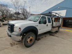 (1) 2006 Ford F-450 Super Duty Utility Truck, VIN #1FDXW46PX6EB43120, 274285 Miles, Power Stroke