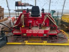 (1) 2003 Allen HD550 Riding Trowel, 485 Hours, Serial 5501104003. Located in Twinsburg, OH.