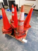 """Pallet of 28"""" Safety Cones. Located in Mt. Pleasant, IA."""