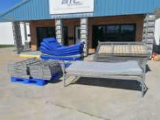 (10) Metal Single Bed with Derby Industries Mattress. Located in Mt. Pleasant, IA.