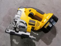 (1) NEW DeWalt DC330, 18 V Cordless Jig Saw with Battery. Located in Ottumwa, IA.