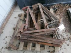 (13) Scaffolding Brackets. Located in Mt, Pleasant, IA.