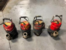 (4) Submersible Pumps, Model ST-2040T. Located in MT. Pleasant, IA.