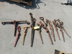 (10) Ratchet Load Binders. Located in Mt. Pleasant, IA.