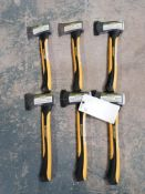 (6) NEW Yardworks 1.25 lbs. Camp Axe. Located in Mt. Pleasant, IA.