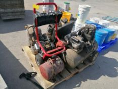 (1) Pallet of Air Tanks & Power Washer for Parts. Located in Mt. Pleasant, IA.