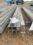 """(6) 2"""" x 9', (2) 1"""" x 9' & (10) 1/4"""" x 9' Wall-Ties Smooth Aluminum Concrete Forms 6-12 Hole Pattern"""