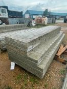 """(4) 36"""" X 9', (2) 32"""" x 9' & (4) 24"""" x 9' Wall-Ties Textured Brick Aluminum Concrete Forms 6-12 Hole"""