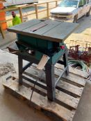 (1) Makita2702 Table Saw, Serial #12409A. Located in Waukegan, IL.
