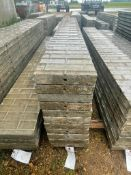 """(11) 12"""" x 9' Wall-Ties Textured Brick Aluminum Concrete Forms 6-12 Hole Pattern. Located in Lake Cr"""