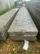 """(4) 18"""" x 9' Wall-Ties Textured Brick Aluminum Concrete Forms 6-12 Hole Pattern. Located in Lake Cry"""