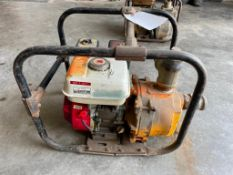 (1) TEEL Self-Priming Centrifugal Pump, Model 2P333A with Honda GX160 5.5 Engine. Located in Waukega