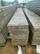 """(8) 12"""" x 9' Corners Wall-Ties Textured Brick Aluminum Concrete Forms 6-12 Hole Pattern. Located in"""