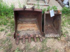 "(1) 24"" & (1) 16"" Mini Excavator Bucket. Located in Lake Crystal, MN."