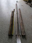 """(1) 6' 5"""", (1) 4' 3"""" & (1) 3' 4"""" Husqvarna Wall Saw Rails. Located in Wheeling, IL."""
