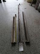 """(1) 7' 5 1/2"""", (1) 4' 7"""" & (1) 3' 4"""" Husqvarna Wall Saw Rails. Located in Wheeling, IL."""