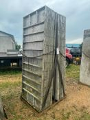 """(14) 3' x 8' Wall-Ties Smooth Aluminum Concrete Forms 8"""" Hole Pattern, Basket is included. Located i"""