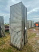 (14) 3'x 9' Wall-Ties Textured Brick Aluminum Concrete Forms 6-12 Hole Pattern. Located in Lake Crys