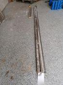 """(1) 8' 4"""" & (1) 2' 11"""" Husqvarna Wall Saw Rails. Located in Wheeling, IL."""