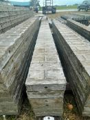"""(6) 8"""" x 9' Wall-Ties Textured Brick Aluminum Concrete Forms 6-12 Hole Pattern. Located in Lake Crys"""