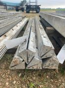 """(5) 4"""" x 4"""" x 9' Hinged Corner Wall-Ties Smooth Aluminum Concrete Forms 6-12 Hole Pattern. Located i"""