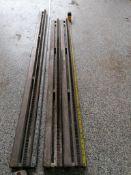 """(1) 4' 10 1/2""""& (2) 4' 3"""" Husqvarna Wall Saw Rails. Located in Wheeling, IL."""
