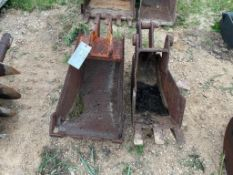 "(1) 16"" & (1) 12"" Mini ExcavatorBucket. Located in Lake Crystal, MN."