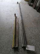 """(1) 7' 5 1/2"""" & (1) 3' 4"""" Husqvarna Wall Saw Rails. Located in Wheeling, IL."""