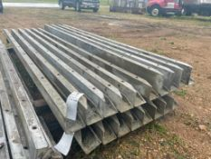 """(6) 4"""" x 4"""" x 9' & (4) 6"""" x 4"""" x 9' Nominal ISC Wall-Ties Smooth Aluminum Concrete Forms 6-12 Hole P"""