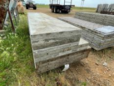 """(4) 36"""" X 9', (2) 32"""" x 9' & (4) 24"""" x 9' Wall-Ties Smooth Aluminum Concrete Forms 6-12 Hole Pattern"""
