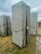 (14) 3' x 9' Wall-Ties Textured Brick Aluminum Concrete Forms 6-12 Hole Pattern. Located in Lake Cry