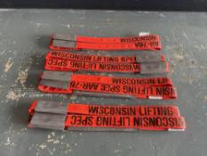 "(4) Wisconsin Lifting Specialists, Type EN2-902, 2"" Width & 29"" Length, 25000 LBS Vertical Capacity"