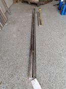 """(1) 7' 5 1/2"""" & (1) 3' 4""""Husqvarna Wall Saw Rails. Located in Wheeling, IL."""