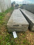 """(4) 20"""" x 9' Wall-Ties Textured Brick Aluminum Concrete Forms 6-12 Hole Pattern. Located in Lake Cry"""