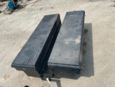 "(2) 54"" x 15"" Black Weatherguard Toolboxes. Located in Glen Ellyn, IL."