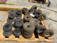 (1) Pallet of Miscellaneous Generator Tires and Axles. Located in Glen Ellyn, IL.