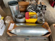 (1) Pallet of Miscellaneous Galvanized Piping and Parts. Located in Waukegan, IL.