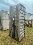 """(16) 3' x 8' Wall-Ties Smooth Aluminum Concrete Forms 8"""" Hole Pattern, Basket is included. Located i"""