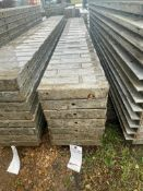 """(7) 12"""" x 9' Corners Wall-Ties Textured Brick Aluminum Concrete Forms 6-12 Hole Pattern. Located in"""