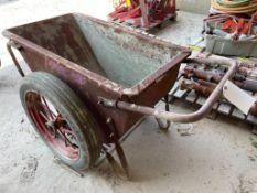 (1) Heavy Duty double Wheel Steel Wheelbarrow. Located in Waukegan, IL.