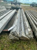 """(4) 7 1/2"""" x 7 1/2"""" x 9' Wall-Ties Textured Brick Aluminum Concrete Forms 6-12 Hole Pattern. Located"""