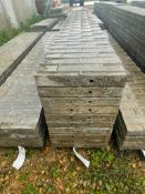 """(10) 16"""" x 9' Wall-Ties Textured Brick Aluminum Concrete Forms 6-12 Hole Pattern. Located in Lake Cr"""